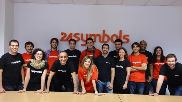 Equipo de 24symbols en la sede española de ZED.