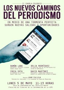 Cartel - II edición 'Los nuevos caminos del periodismo' By Carlos Aranda (Kafreman)