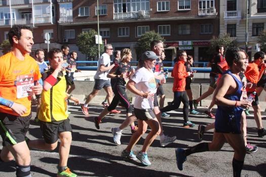 A la derecha, Miguel Ángel, quien me acompañó durante 33 kilómetros.